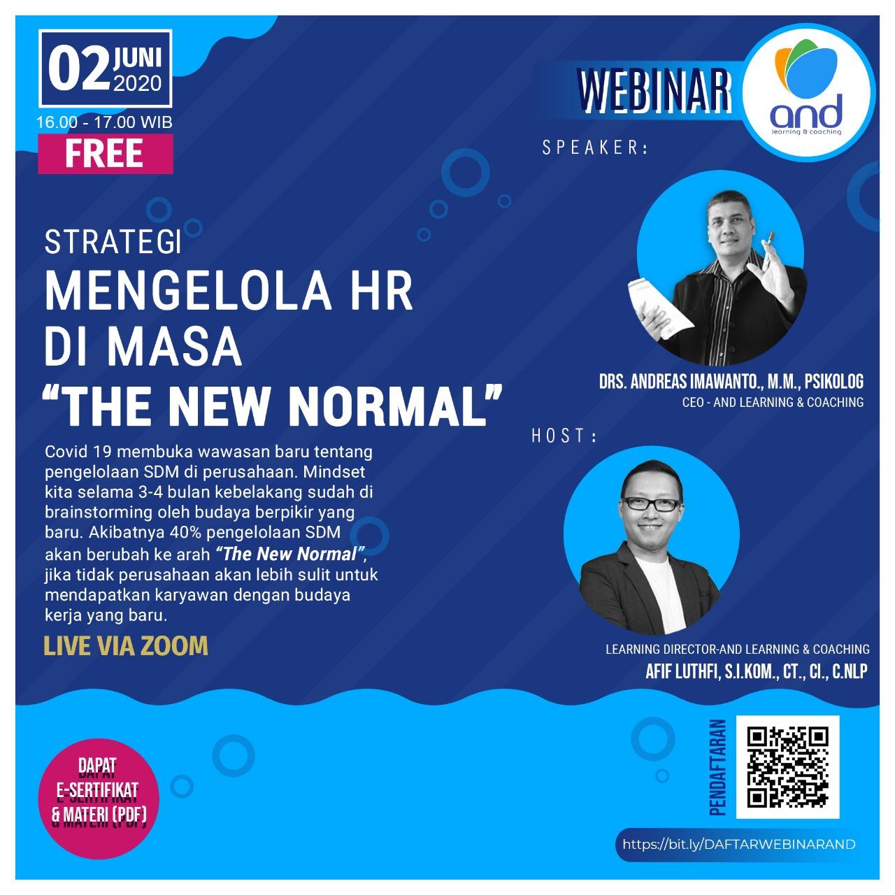 Strategi Mengelola HR di Masa The New Normal
